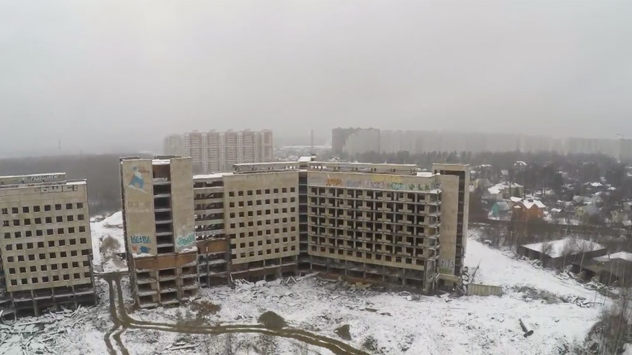 Runaway drone smashes into eerie abandoned KGB hospital (VIDEO)