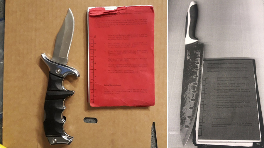 Mall brawl: Weapons seized in Boxing Day gang riot highlight London's knife problem (VIDEO)