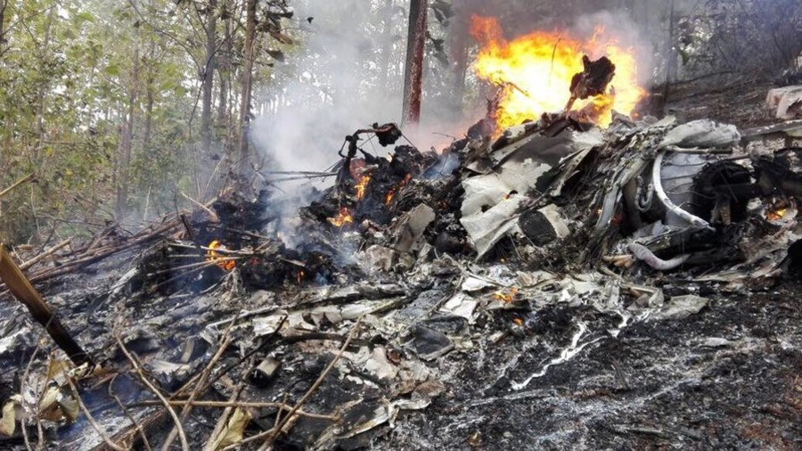 Plane Crashes And Burns In Costa Rica, Believed To Have 12 Aboard