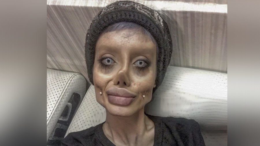 'Corpse Bride': Internet slams woman who had '50 surgeries' to look like Angelina Jolie… or did she?