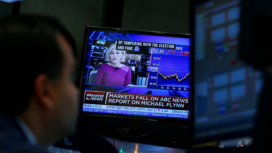 ABC's fake news about Flynn & Russia causes stocks to crash