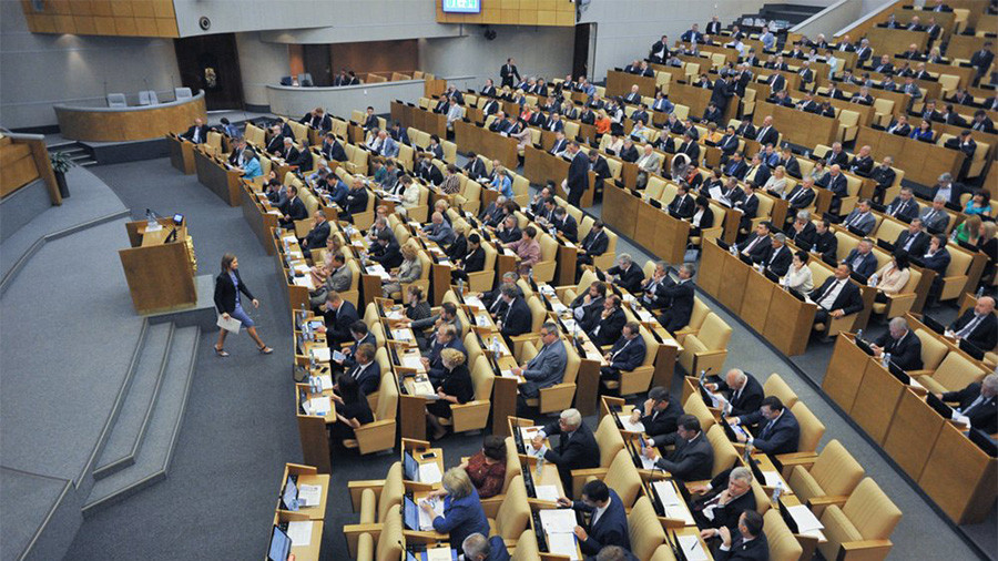 Russian lawmakers mull tit-for-tat ban against foreign-funded journalists at parliament sessions