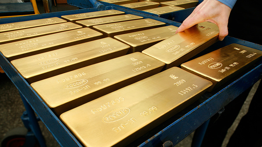 Russia liquidates nearly all its holdings of US debt & invests money in gold