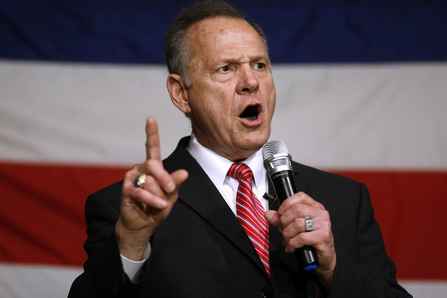 Victor over Roy Moore says US should 'move on' from Trump's alleged sexual misconduct