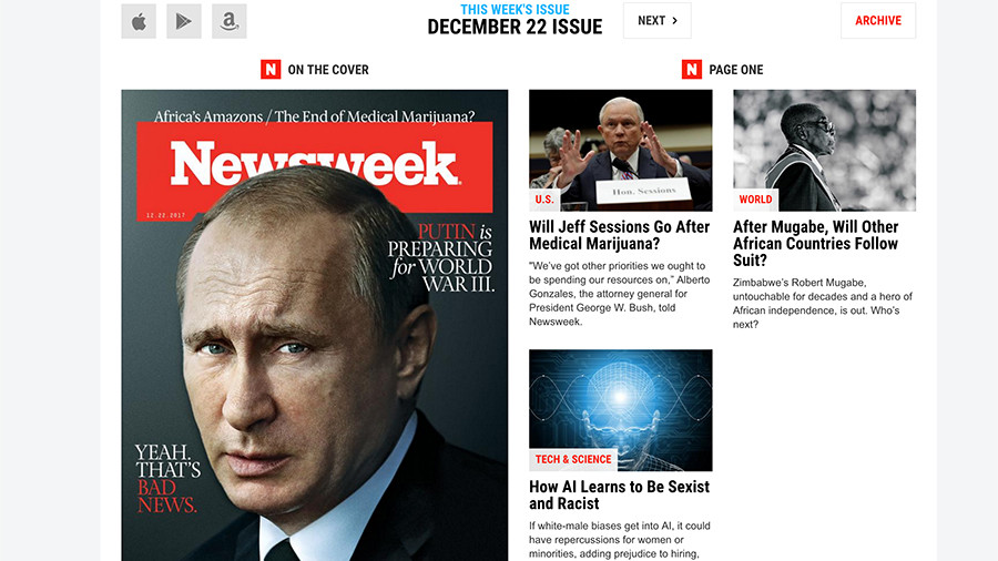 Newsweek's claim Putin is planning World War 3 is completely fake