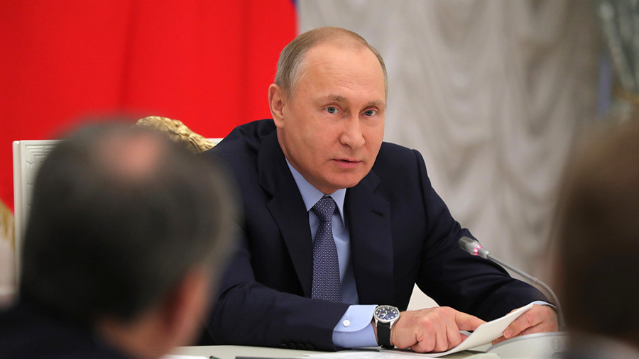 Putin: Foreign intelligence agencies trying to meddle in Russia's internal affairs