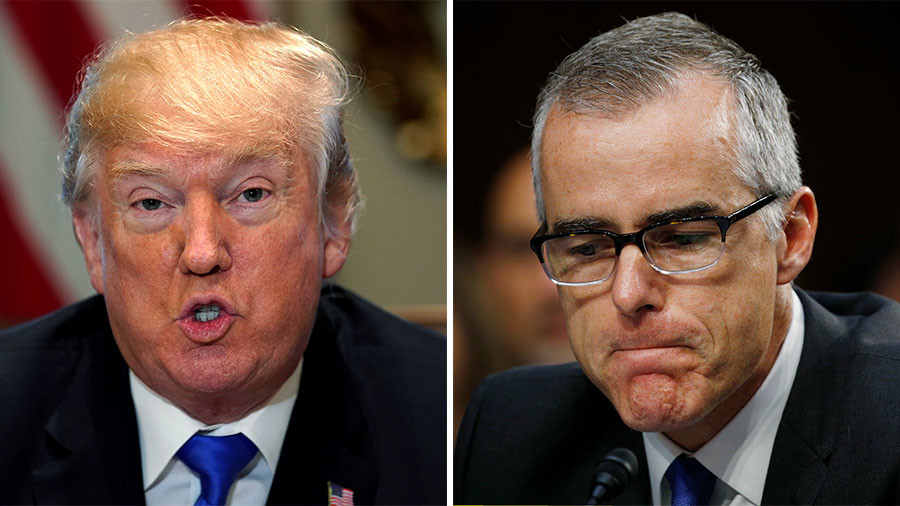 FBI deputy director McCabe steps down - report