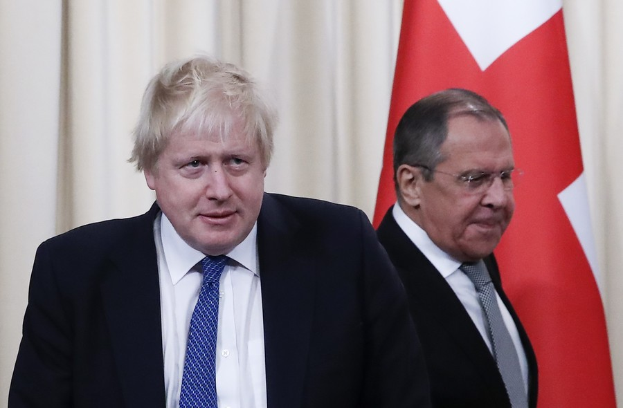 'Your accusations are made up!' Prickly barbs expose deep rifts during Boris Johnson's Russia visit
