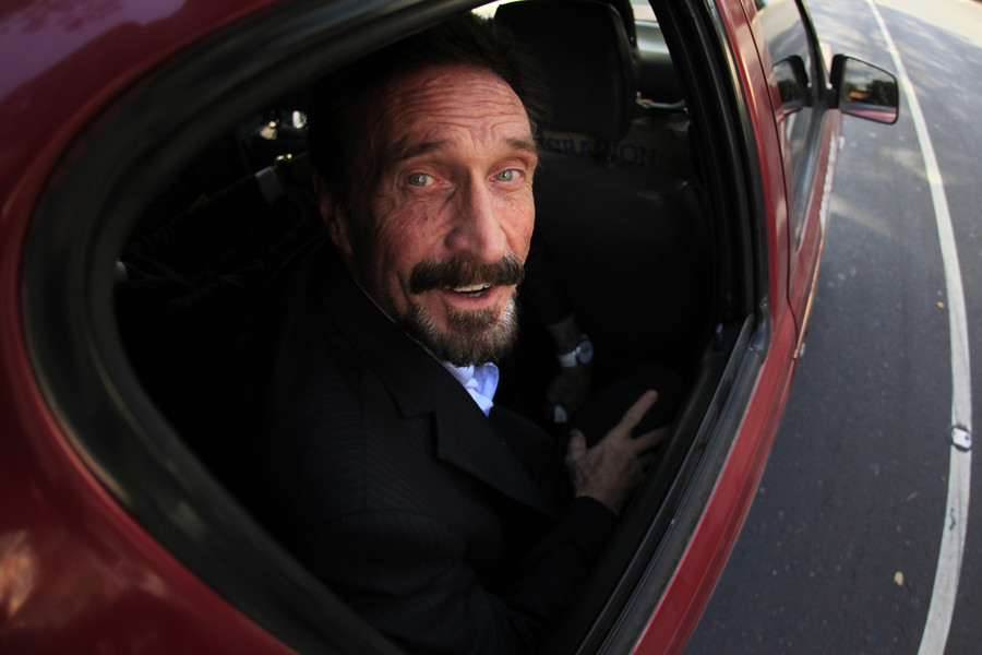 John McAfee vows to 'serve the crypto community' when he runs for president in 2020