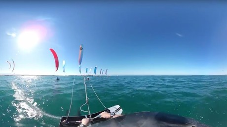 Gone with wind & wave: Kitesurfing in Oman in 360 video