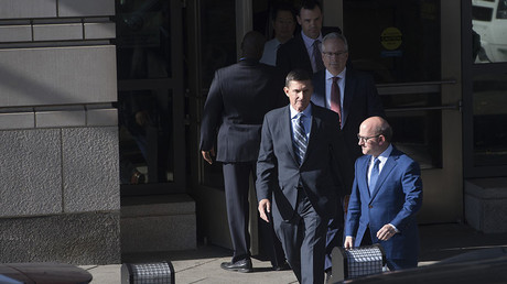 Gen. Michael Flynn(C), former national security adviser to US President Donald Trump. © AFP