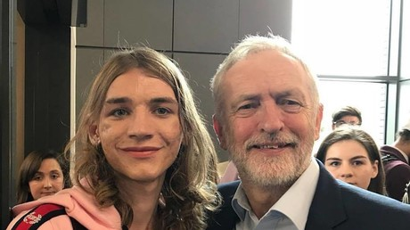 Lily Madigan said she is suffering from mental health issues after The Times articles (pictured with Jeremy Corbyn)© Facebook/ Lily Madigan