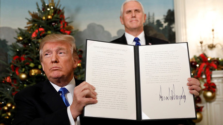 Trump signs proclamation recognizing Jerusalem as Israel's capital