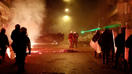 Petrol bombs & tear gas at labor reform protest in Athens (PHOTOS, VIDEO)