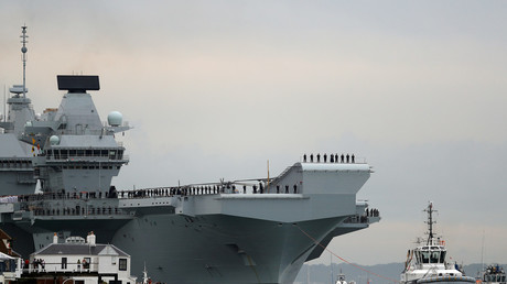 Queen honors British Navy's new £3bn warship...despite government slashing military funding