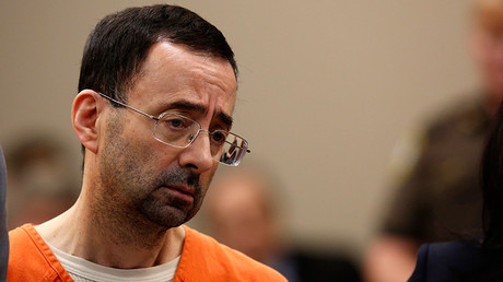'Give me 5 mins with that demon': Nassar victim father lunges at pedophile doctor (VIDEO)