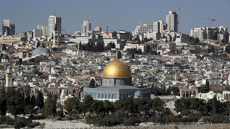 A picture shows the Dome of the Rock mosque and a general view of Jerusalem © Thomas Coex