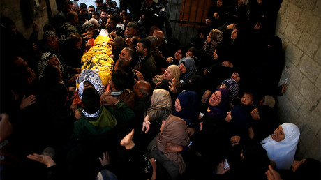 Mourning for Palestinian man killed during 'Day of Rage' protest in Gaza