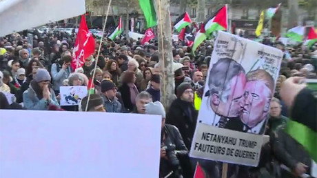 Massive Pro-Palestinian protest held in Paris ahead of Netanyahu's visit (VIDEO, PHOTO)