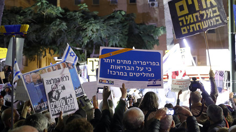 'Shame': Thousands rally against corruption in Israel after Netanyahu son scandal (VIDEO)