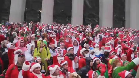 'Santa Claus is coming to town': Colorful SantaCon 2017 kicks off in New York