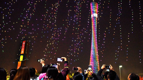 Over 1000 drones light up sky in magnificent record-setting display in China (VIDEOS)
