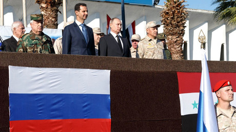 Putin makes surprise visit to Syria's Khmeimim airbase
