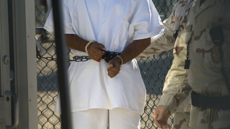 FILE PHOTO Guantanamo Bay, Cuba - A detainee seen in hand restraints in Camp 4 at the detention facility © Louie Palu / Global Look Press