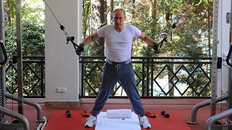 Pumping Putin iron - Workout equipment in shape of Russian leader's face on sale