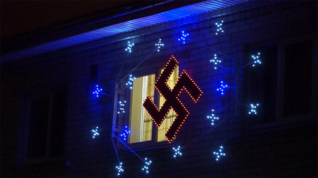 Latvian man lights up swastika Christmas ornament, authorities say it's a folk symbol