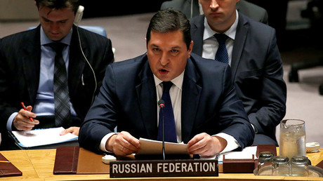 Russian Deputy Ambassador to the United Nations Vladimir Safronkov. © Mike Segar