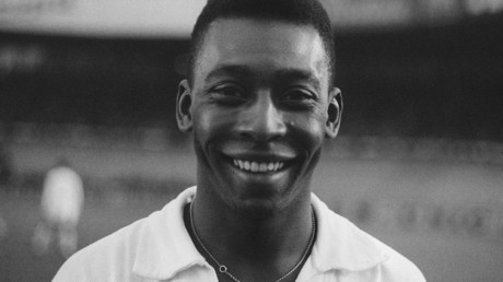 Brazilian striker Pele, 13 June 1961 in Colombes, in the suburbs of Paris © AFP