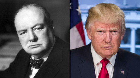Donald Trump was just likened to Winston Churchill… and Brits aren't impressed