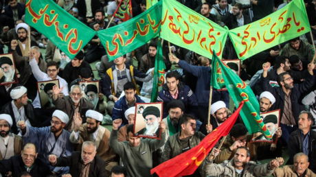 Pro-government rally in Tehran