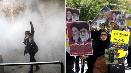 'West focuses only on anti-govt rallies': Thousands protest for & against authorities in Iran