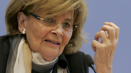 Charlotte Knobloch, former president of the Central Council of Jews in Germany believes normal Jewish life is not possible  without police protection. © Arnd Wiegmann
