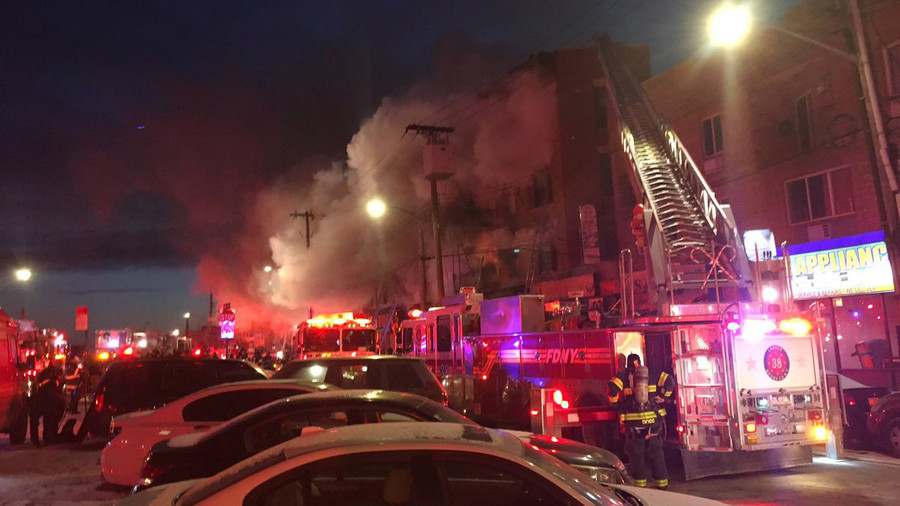 Over 20 injured in Bronx building blaze (PHOTOS, VIDEO)