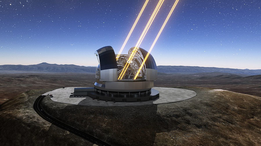 Satellite snaps site of world's largest telescope atop Chilean mountain (PHOTO)