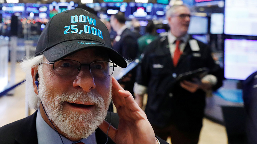 Dow passes 25,000 for 1st time after new jobs figures