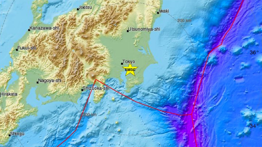 Simultaneous small quakes in Japan trigger emergency warning