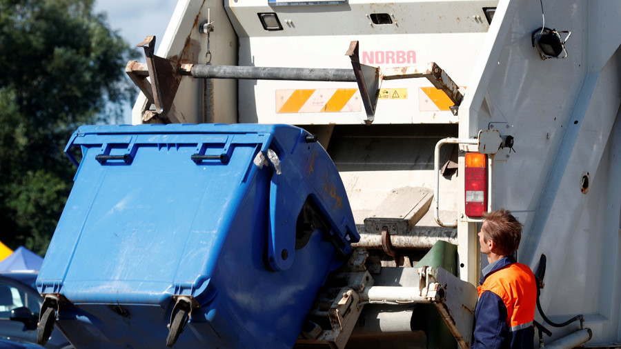 Homeless man asleep in a bin injured after being mistakenly emptied into rubbish truck