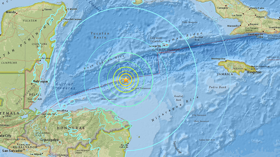 7.6 quake triggers warning of 1m tsunami waves across the Caribbean