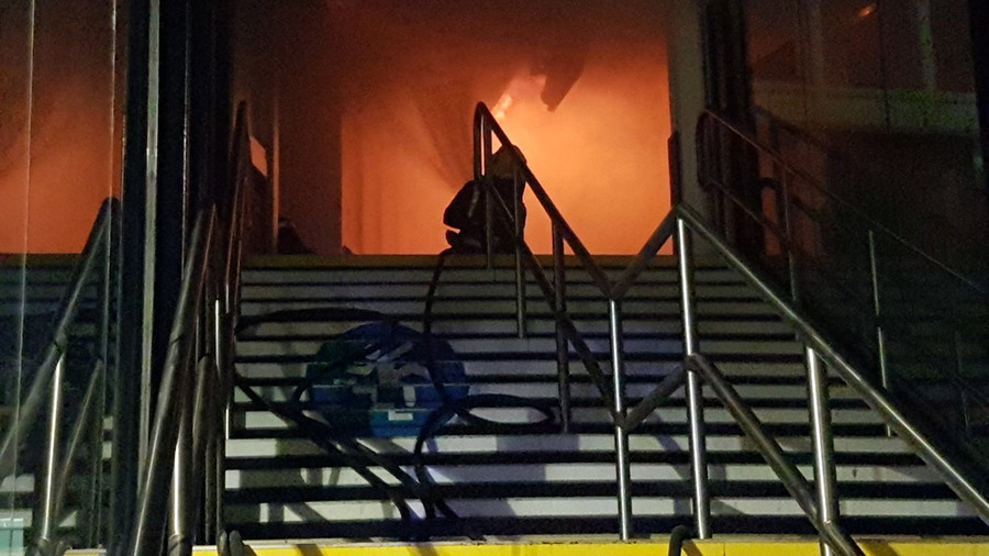 Nottingham train station fire 'being treated as arson'