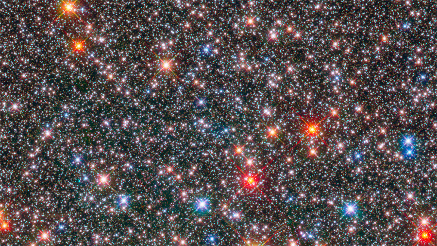 Milky Way's stellar 'rainbow' captured in dazzling Hubble image