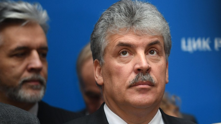 Farm magnate Grudinin closes all foreign bank accounts ahead of Russia's presidential election