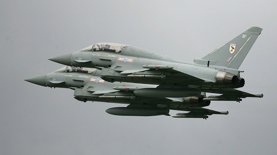Britain scrambles two Typhoon jets to intercept Russian planes