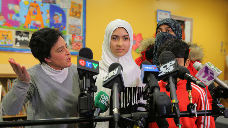 Hijab-cutting attack in Toronto never happened