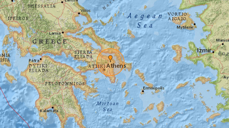 4.3 magnitude quake rattles Greece, tremors felt in Athens