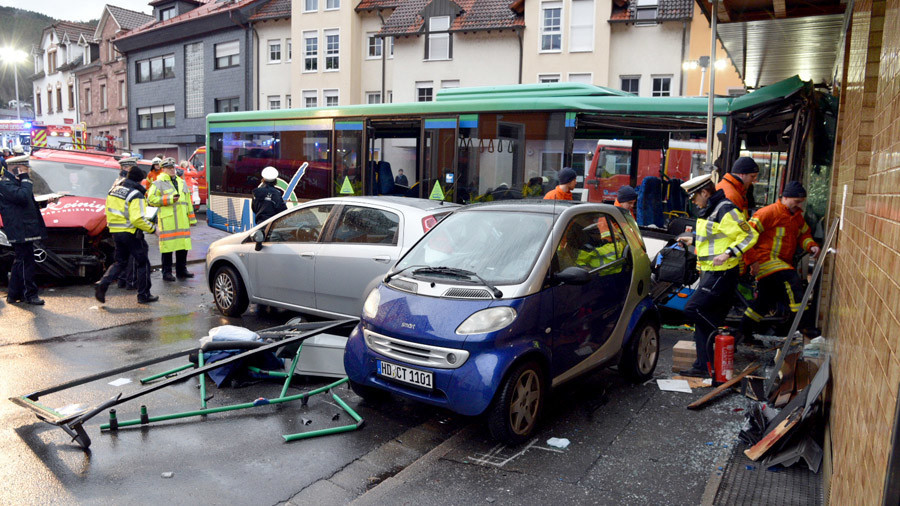 48 injured as school bus rams into building in Eberbach, Germany (PHOTOS)