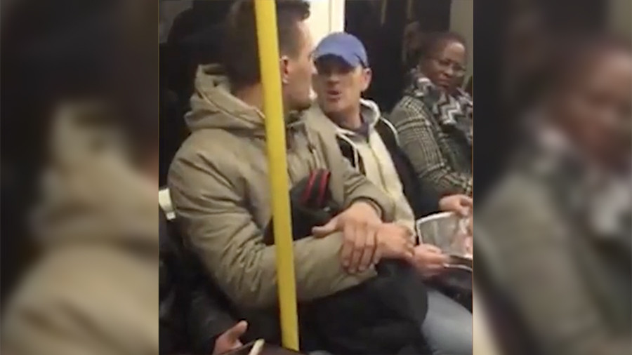 Italian passenger racially abused on London tube in shocking footage, police hunting suspect (VIDEO)